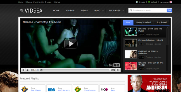 ThemeForest Video Streaming 157947