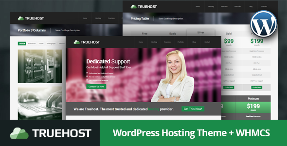 Truehost - WordPress Hosting Theme + WHMCS