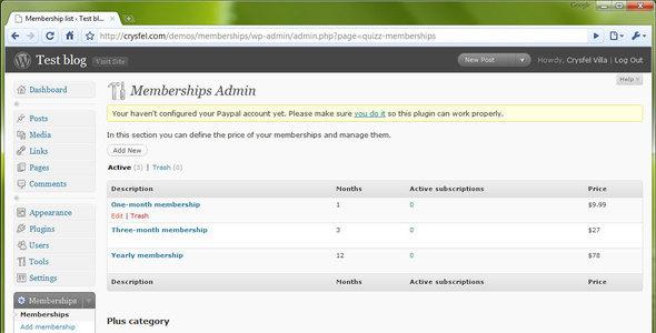 Membership - WordPress Plugin