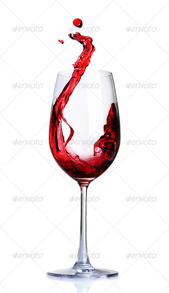 Red Wine Abstract Splashing - Stock Photo - Images