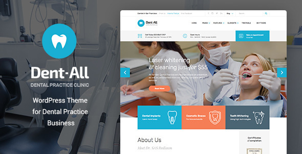 6 - Dent-All: Dental Practice WordPress Theme