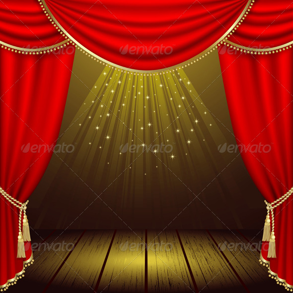 Stage background christmas for Auditorium stage decoration