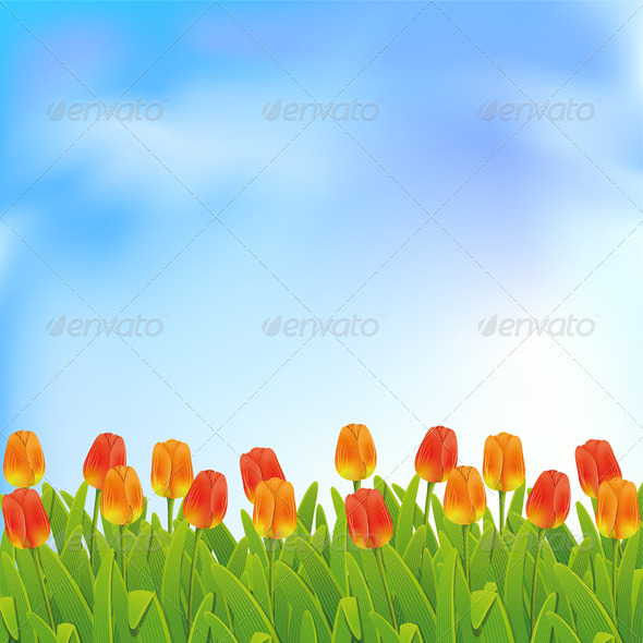 GraphicRiver Spring background 158091