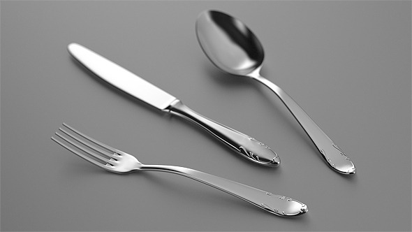 Classy Cutlery - 3DOcean Item for Sale