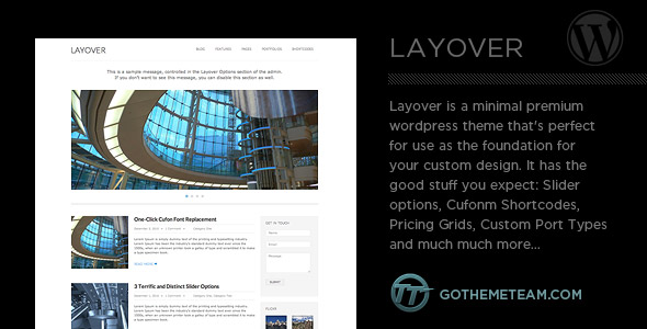 Layover Wordpress Theme