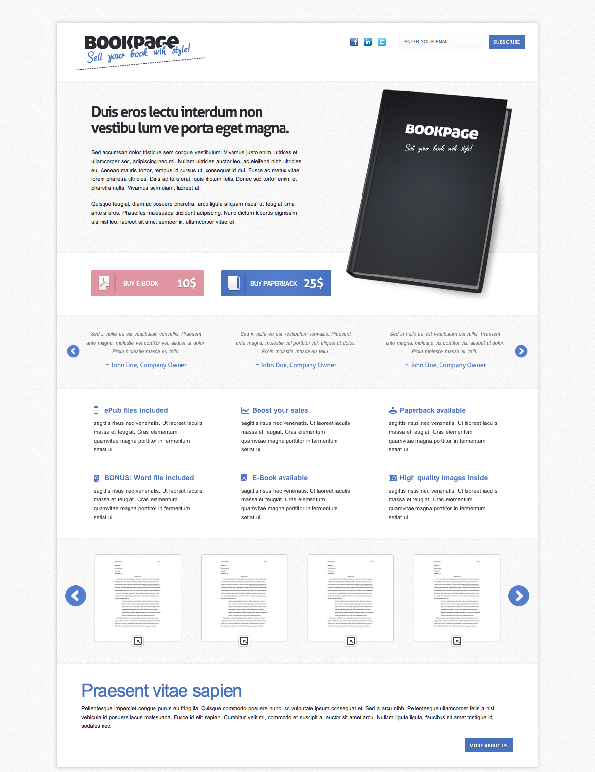 BookPage - Sell your books with Style!