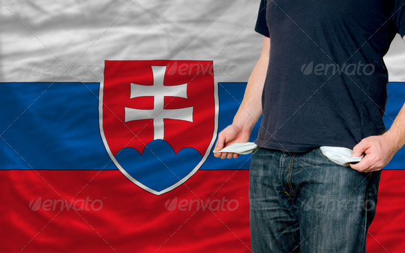 recession impact on young man and society in slovakia - Stock Photo - Images