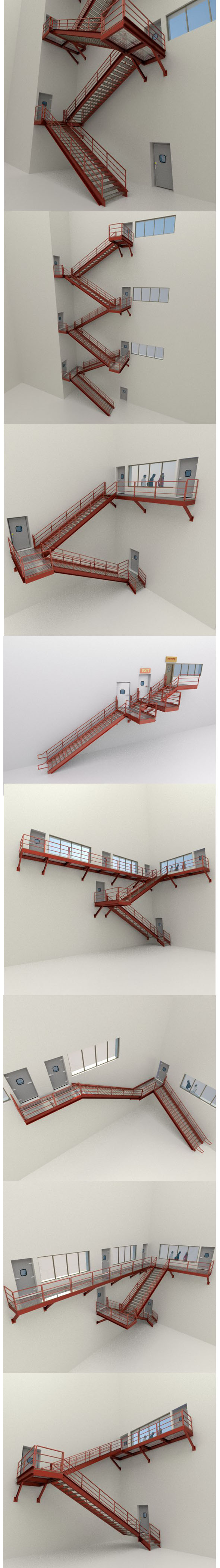 Factory's Metal Stairs package - 3DOcean Item for Sale