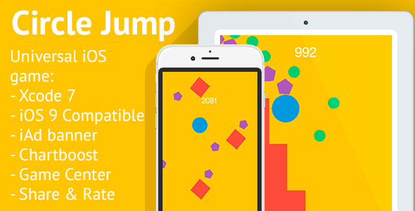 Circle Jump - iOS 8/9 Universal Game - CodeCanyon Item for Sale