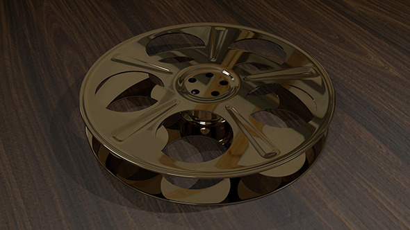 Film Reel - 5-Holed Film Reel 3D Object - 3DOcean Item for Sale