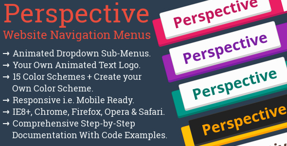 Perspective: Website Navigation Menu + Logo