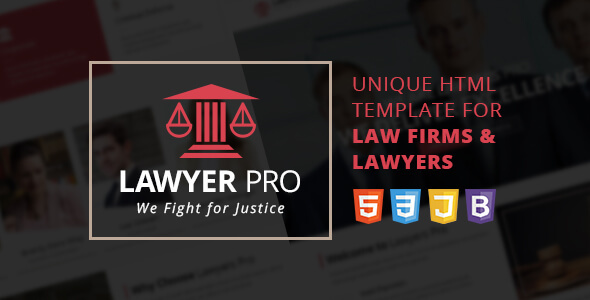 Lawyer Pro Responsive Site Template for Lawyers