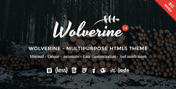 11. Wolverine - Multipurpose HTML5 Template