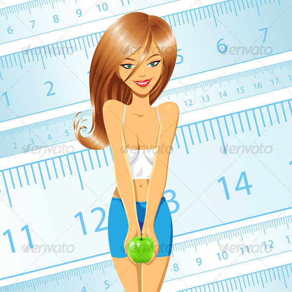 GraphicRiver Diet girl 51079
