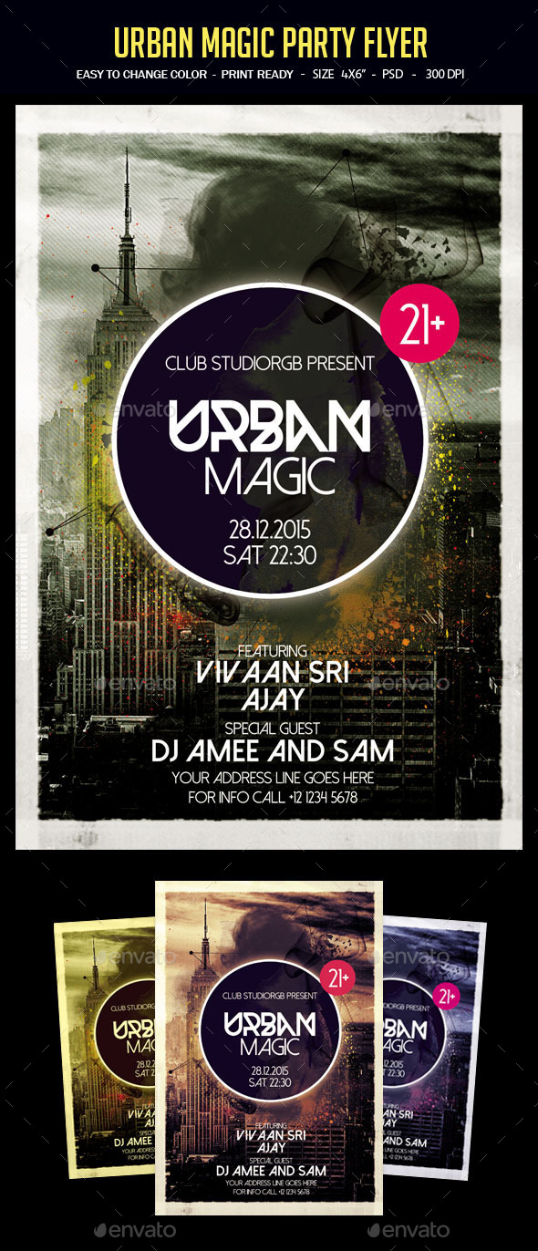 Urban Magic Flyer Template