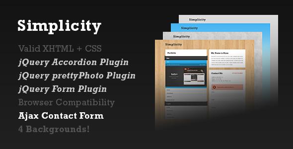 Simplicity - One-Page Portfolio