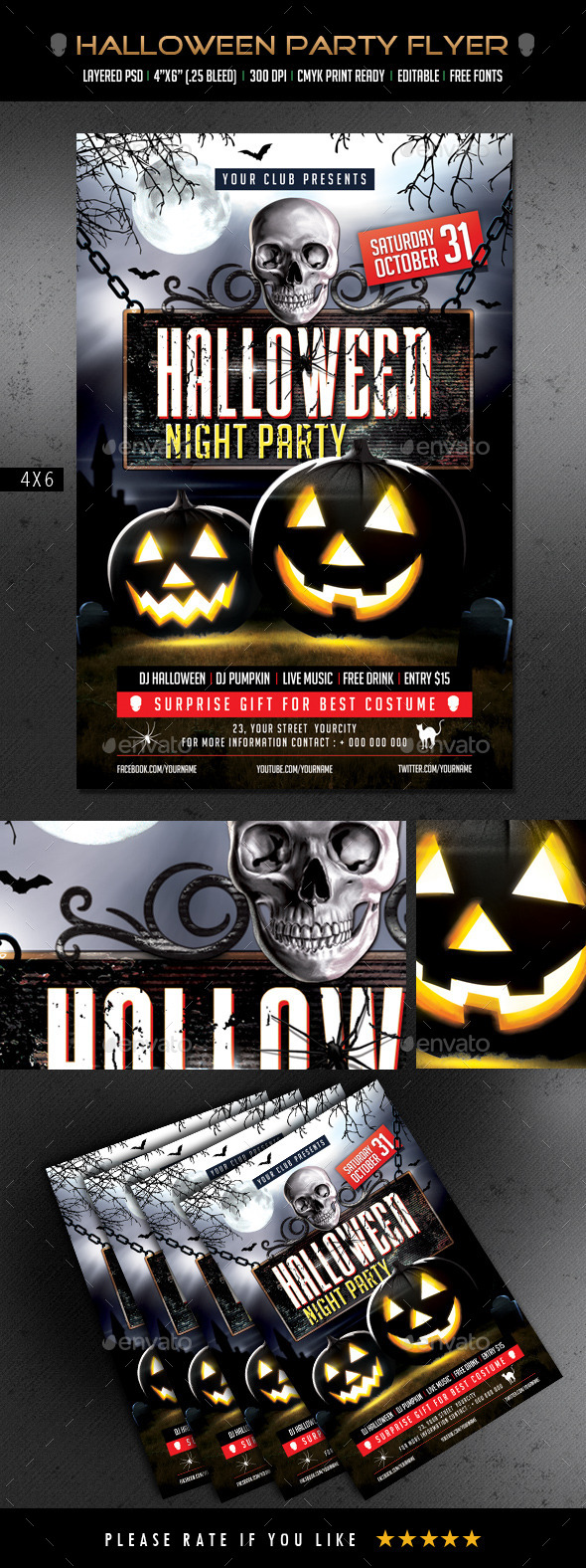 Halloween Party Flyer