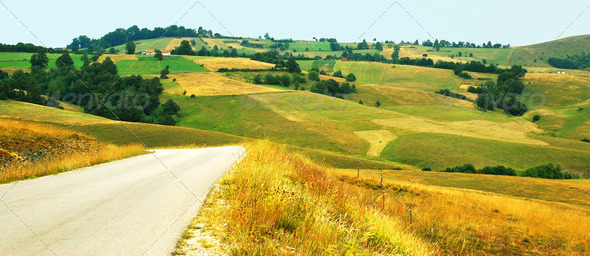 rural  landscape - Stock Photo - Images
