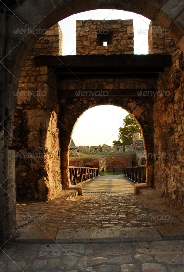 Belgrade fortress gate - Stock Photo - Images