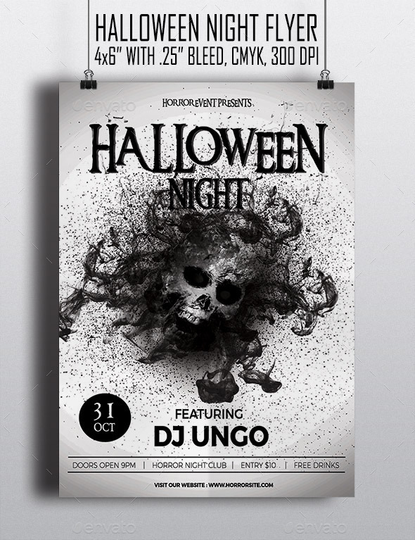 Halloween Night - Flyer