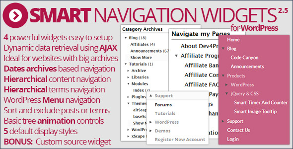 CodeCanyon Smart Navigation Widgets v1.5.1