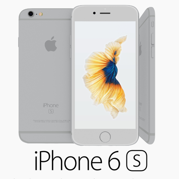 Iphone 6S Silver - 3DOcean Item for Sale