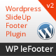 WP leFooter - WordPress SlideUp Footer Plugin
