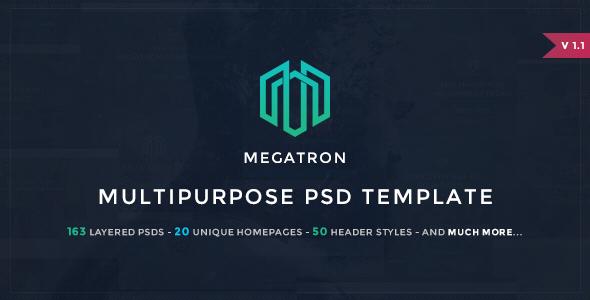Megatron - Multipurpose PSD Template