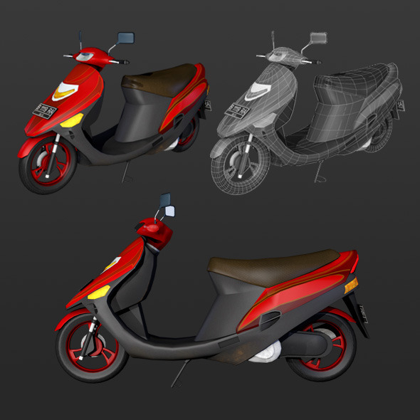 motorcycle matic  - 3DOcean Item for Sale