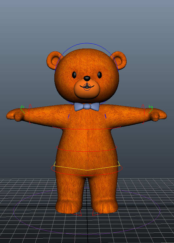 3DOcean Bear Character Rig and Model 13180405