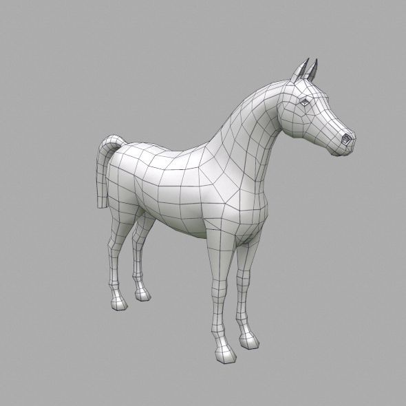 horse base mesh - 3DOcean Item for Sale