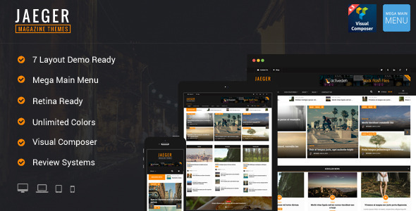 Jaeger - Flexible Layout News & Magazine WP Theme