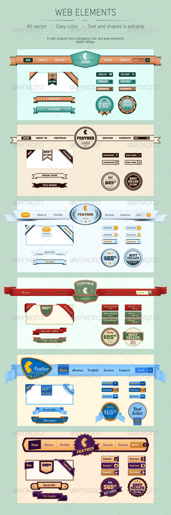 GraphicRiver Web Elements 1321303