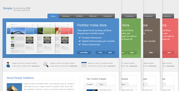 Simple Solutions 2.0 - Corporate Theme