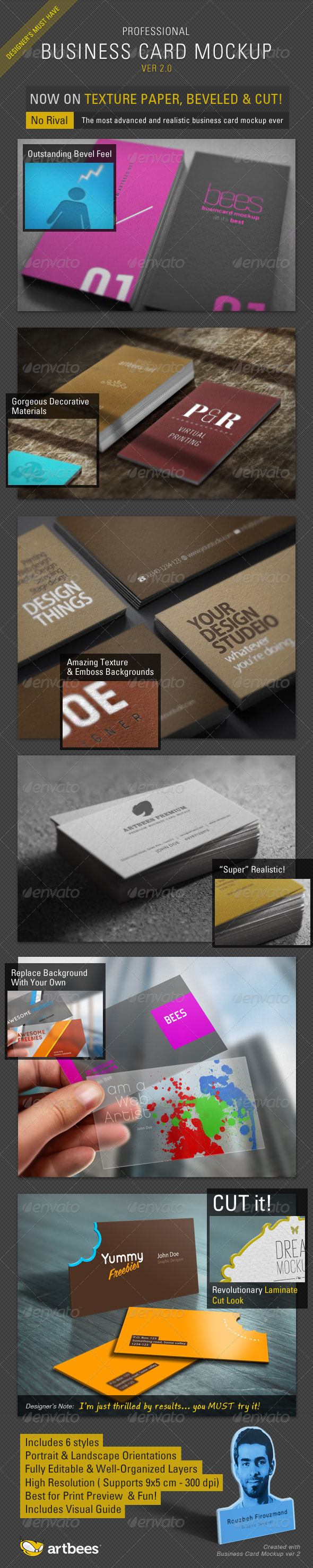 Business Card Mockup Pro - ver 2.0 - Business Cards Print