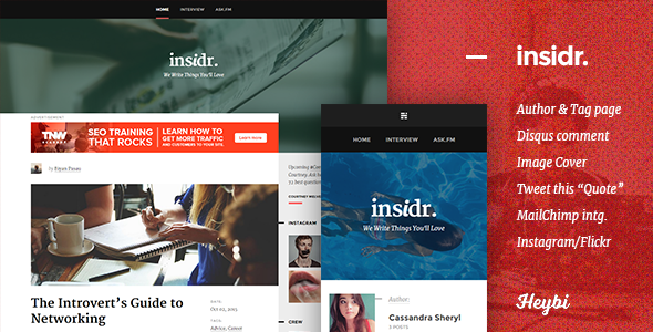 Insidr: Responsive Theme for Writer