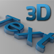 3D Glossy and Modern Text