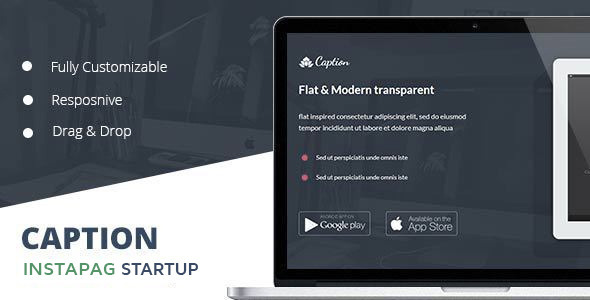 Download Caption Flat Startup Landing Page  nulled download
