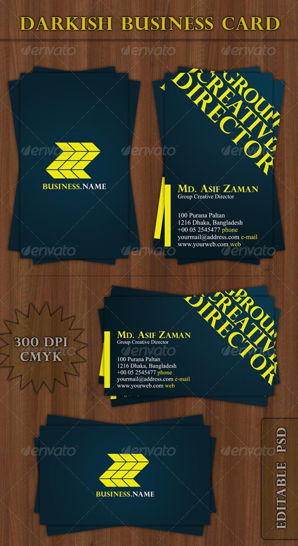 Darkish Business Card - Creative Business Cards