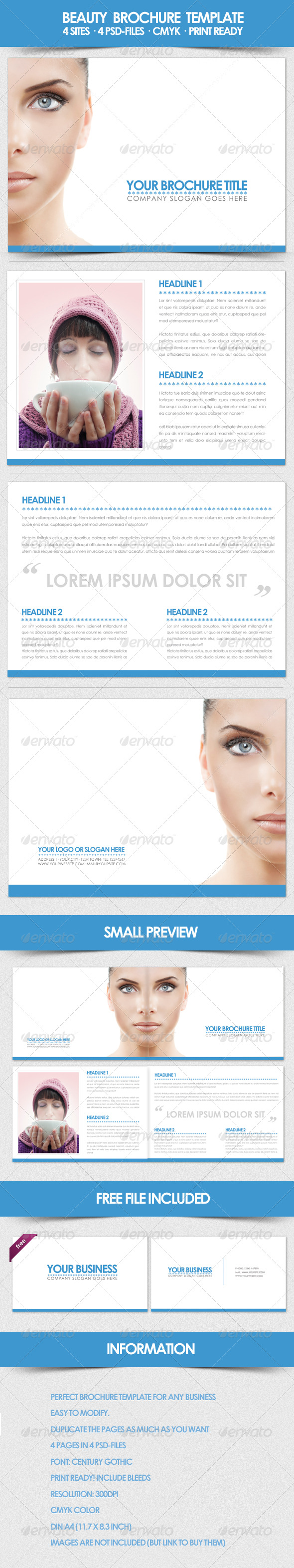 GraphicRiver Beauty Brochure Template 158551