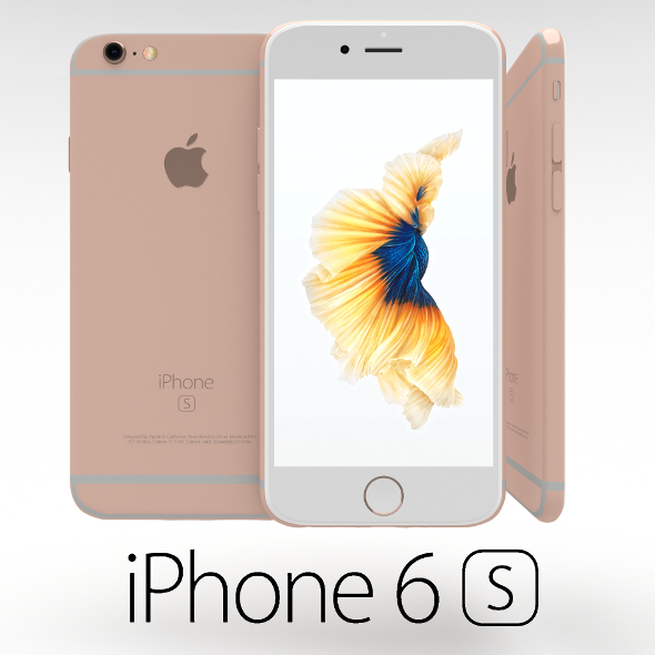 Iphone 6S Rose Gold - 3DOcean Item for Sale