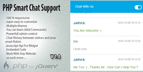 CodeCanyon PHP Smart Robot Chat Support 13199679