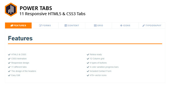 CodeCanyon 11 Responsive Power Tabs 13116767