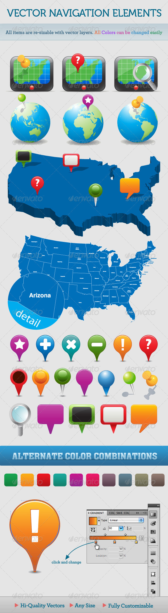 GraphicRiver Vector Navigation Icons and Maps 110256