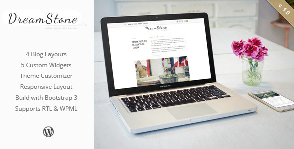 Download DreamStone - Personal WordPress Blog Theme nulled download