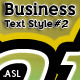 Business Text Styles #2 - GraphicRiver Item for Sale