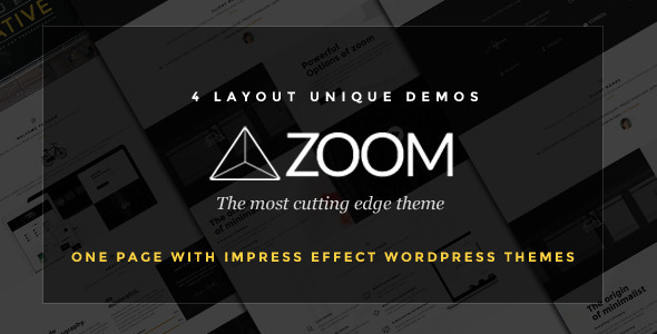 Download Zoom - Zooming Page and One Page WordPress Theme nulled download