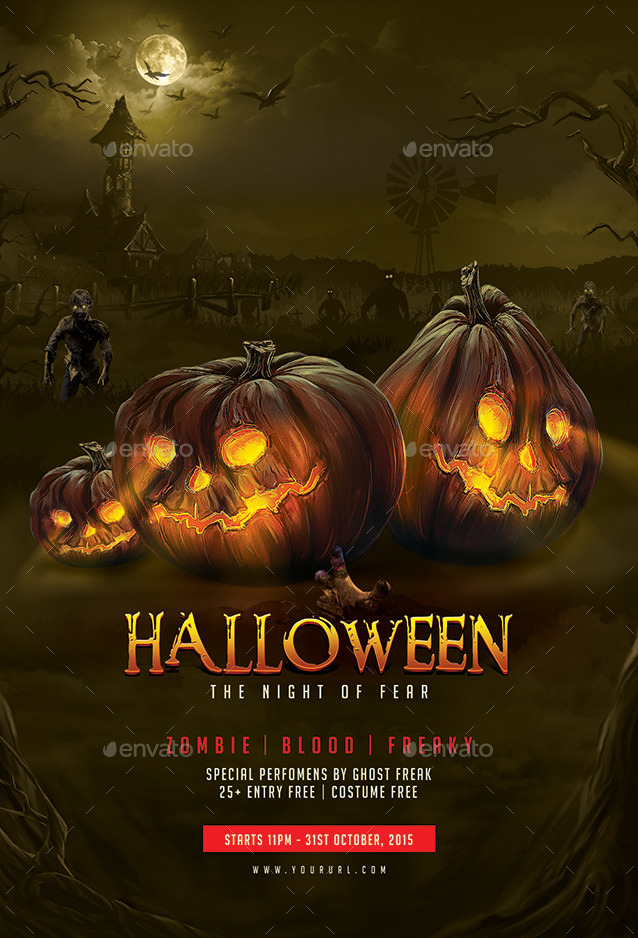Halloween Flyer Template By Doto Graphicriver
