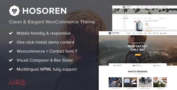 Hosoren - Clean & Elegant WooCommerce Theme