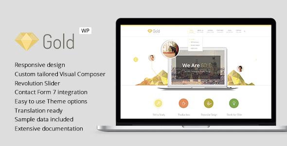 Gold - Responsive Business WordPress Theme